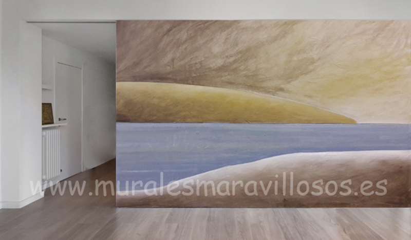 murales paisajes pintura paredes salones