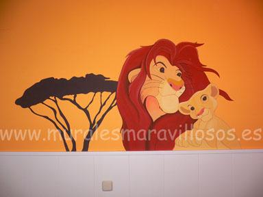 dibujos en habitaciones rey leon