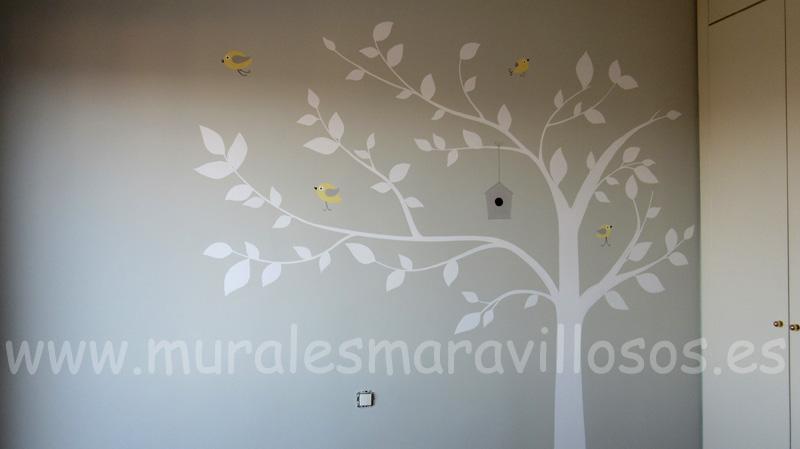 habitaciones pintadas paredes con arboles