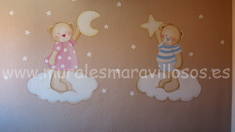 murales ositos pintados paredes gotele