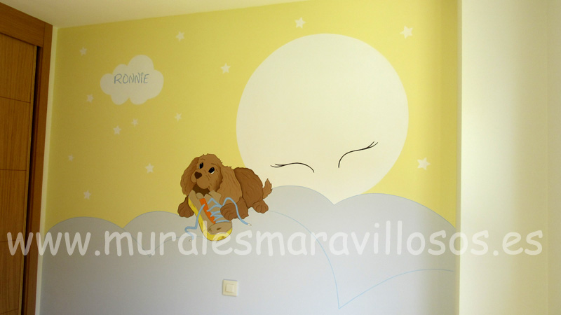 DORMITORIOS INFANTILES perritos luna