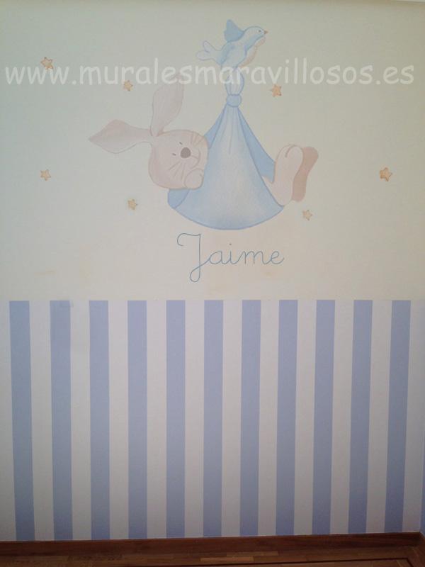 murales conejitos bebes