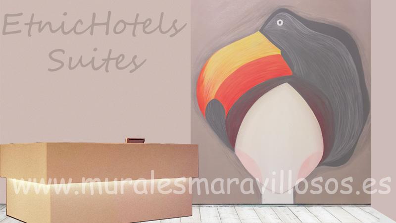 murales paredes pintura hoteles