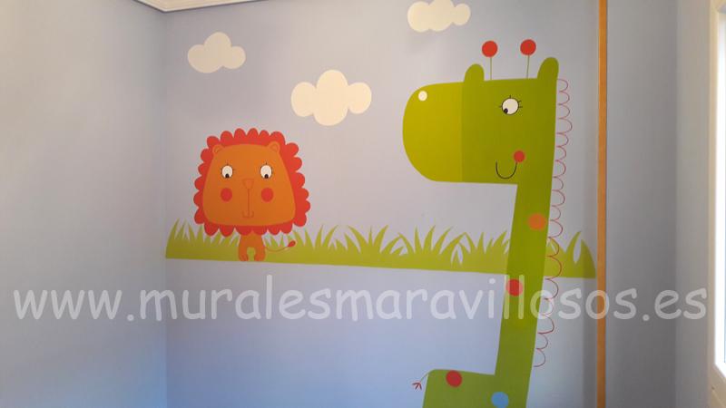 murales animales habitaciones animales selva