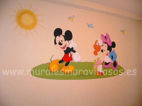 murales infantiles cuartos mickey minnie