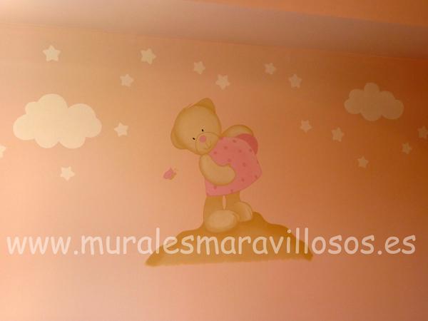 murales ositos paredes rosas