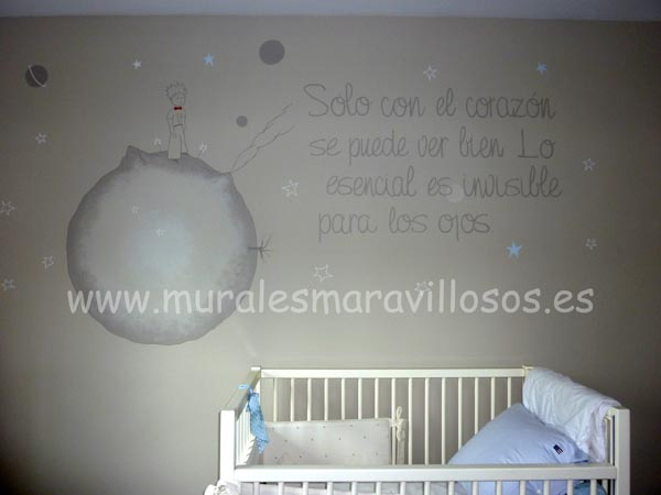 mural el principito dormitorio