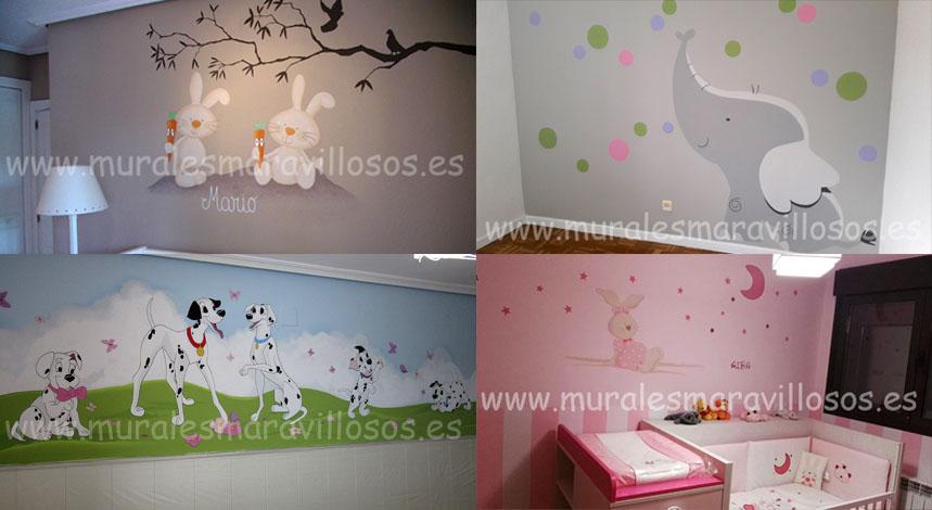 murales habitaciones infantiles
