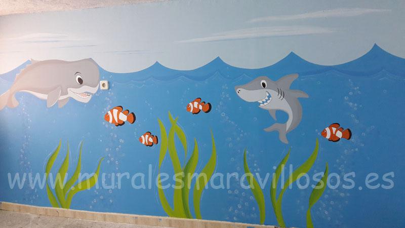 murales infantiles peces