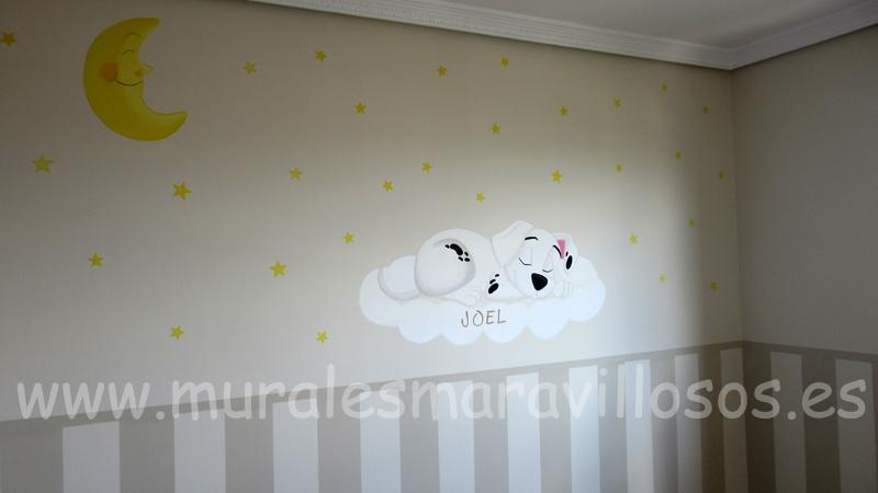 pintura cuartos habitaciones bebes murales dalmatas