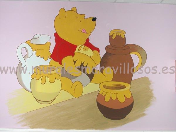 murales habitaciones winnie miel
