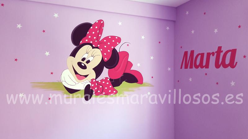 habitaciones minnie con nombre niña