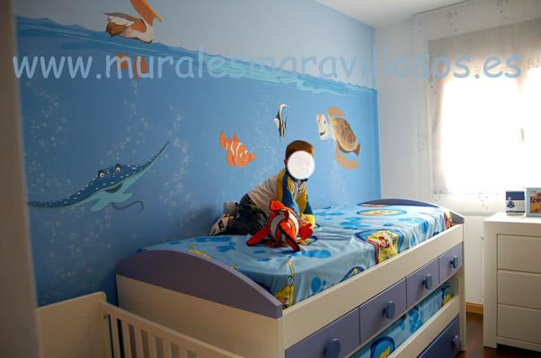 habitaciones con murales nemo