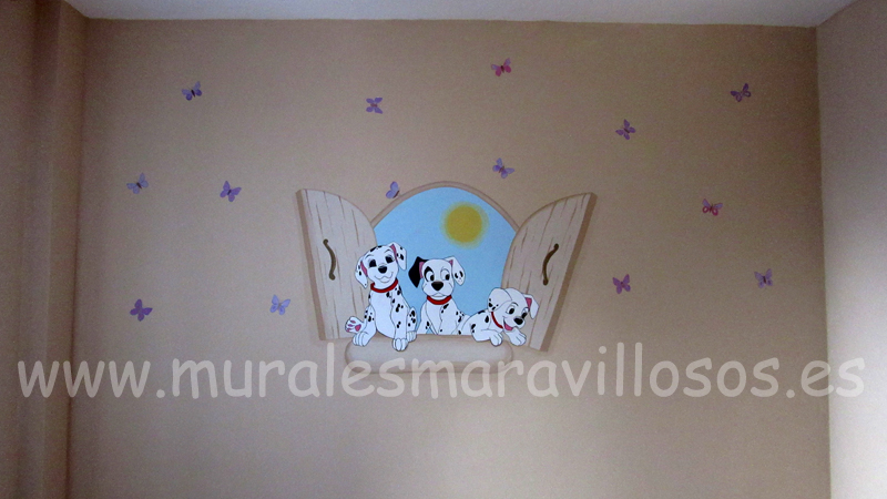 murales infantiles dalmatas habitaciones bebes