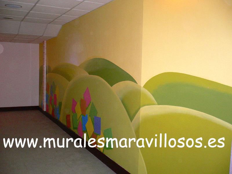 murales pintados pasillos hospitales