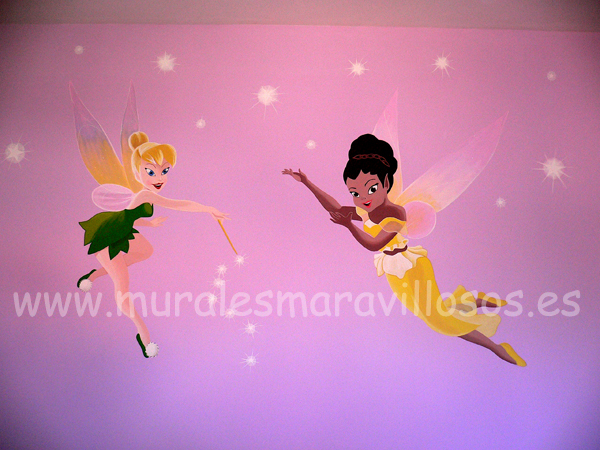 murales de hadas y princesas campanilla