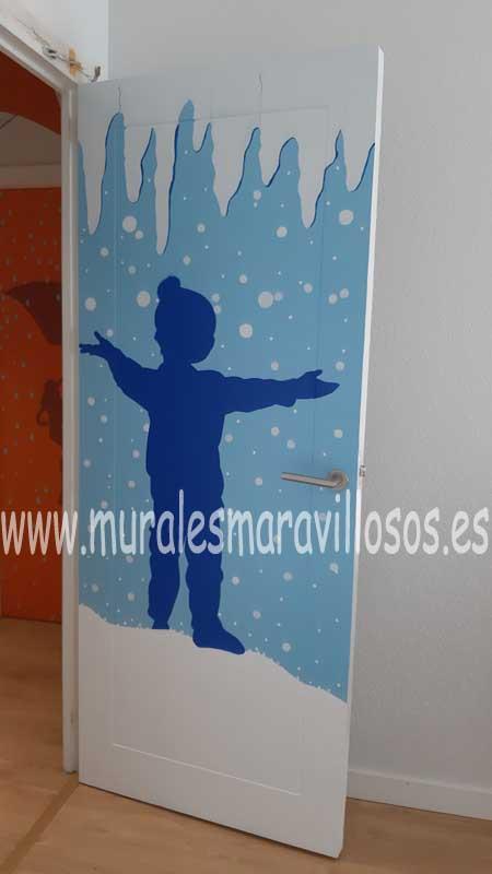 puertas murales pintados hospitales
