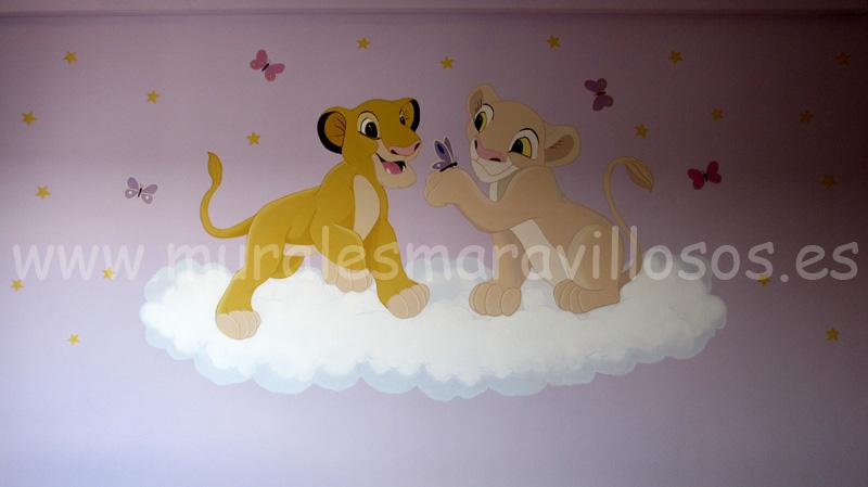 murales infantiles rey leon