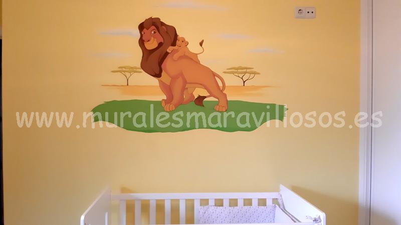 habitaciones dormitorios infantiles rey leon