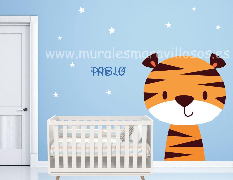murales infantiles pintura habitaciones tigres