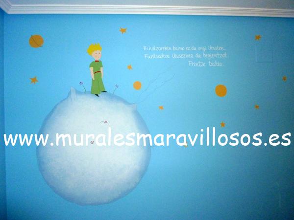 murales habitaciones el principito
