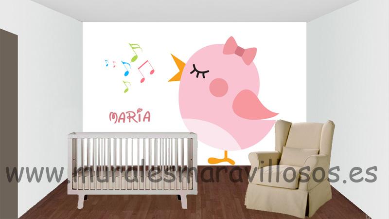 pintura infantil pajaritos