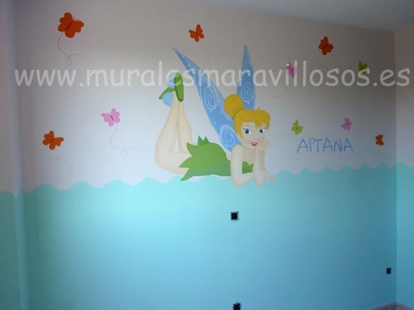 murales de campanilla cuartos niña