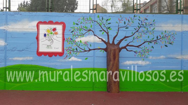 murales colegio garcilaso de la vega madrid