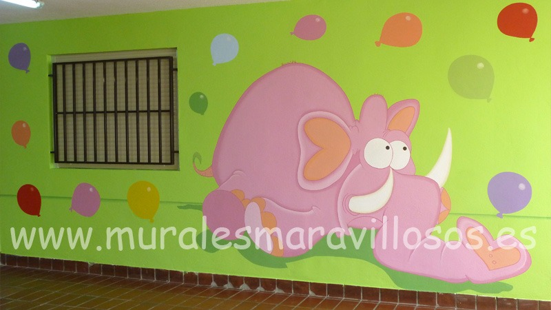 murales pintados en colegios y guarderias
