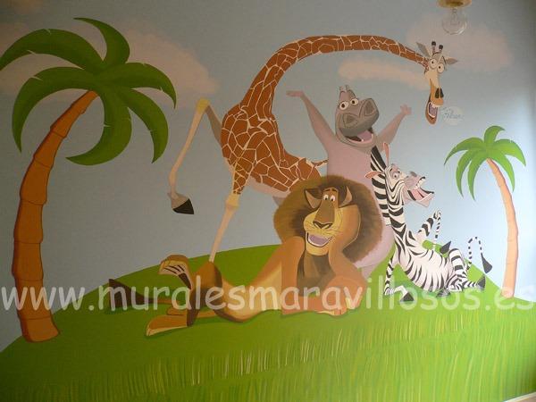 mural madagascar disney