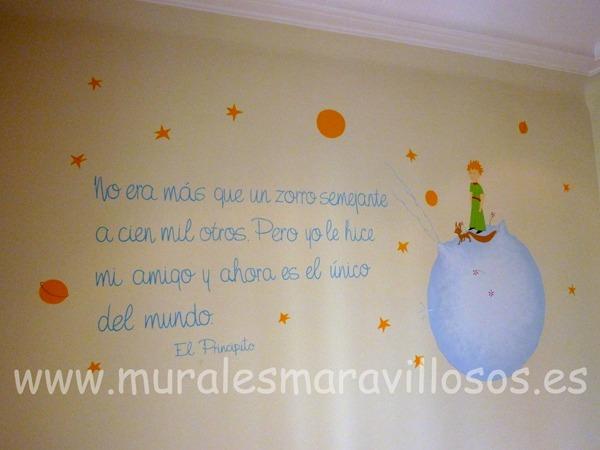murales habitaciones bebes principito