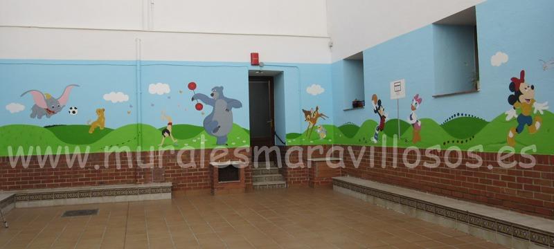 murales pintados en patios colegios y guarderias