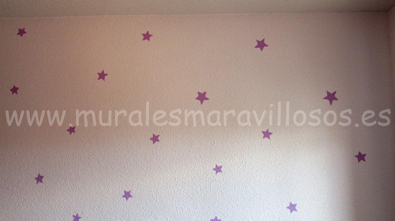 estrellas pintadas en habitacion infantil