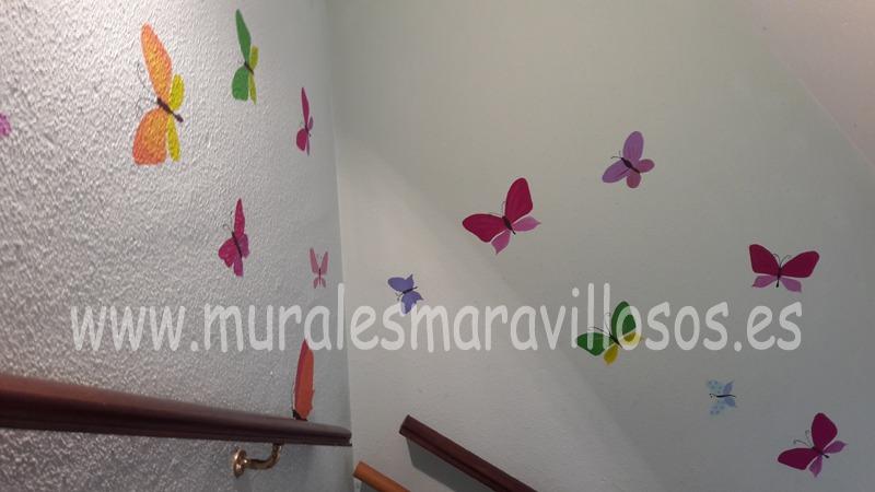 escaleras escuela infantil mariposas