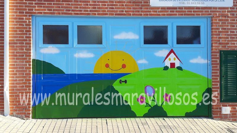 escuelas infantiles murales mi casita