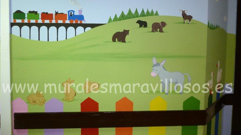 mural infantil hospital pasillos