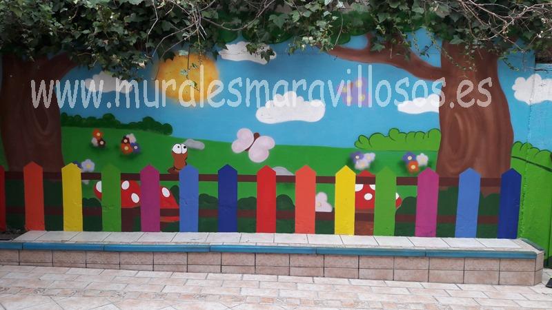 mural valla colores escuela