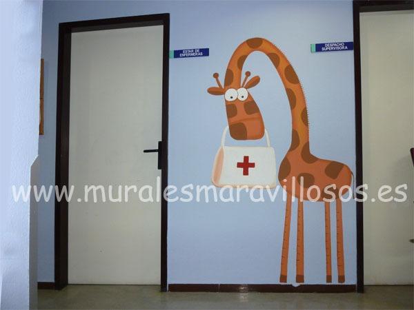 mural puesto enfermeria hospital