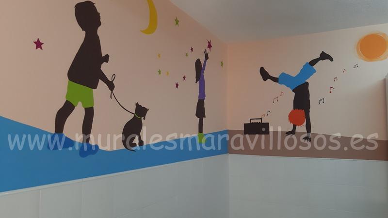 murales pintados en colegios