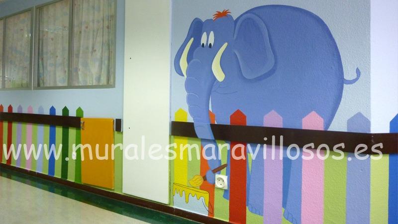 murales infantiles en hospitales