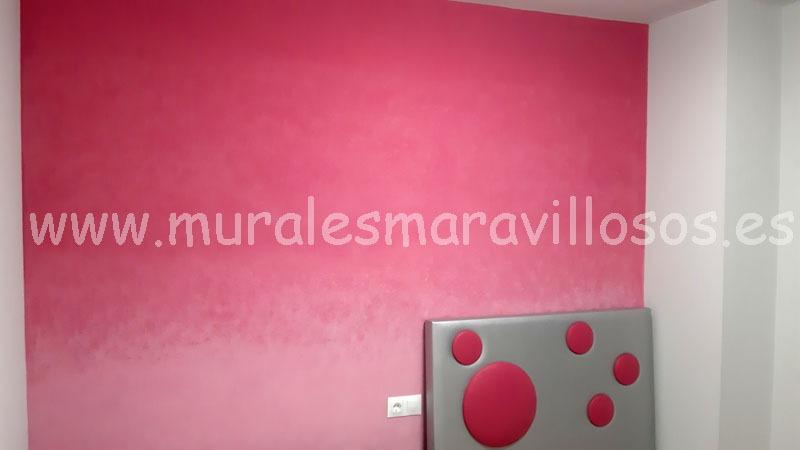 pintura origal habitaciones degradado fucsia