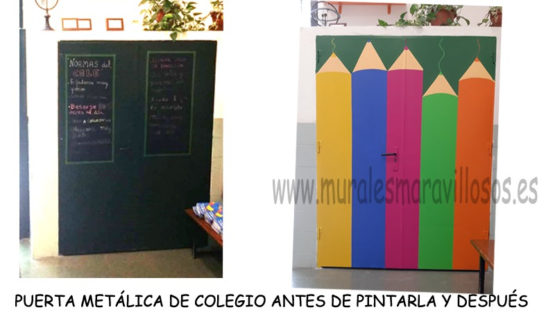 puertas pintadas en colegios
