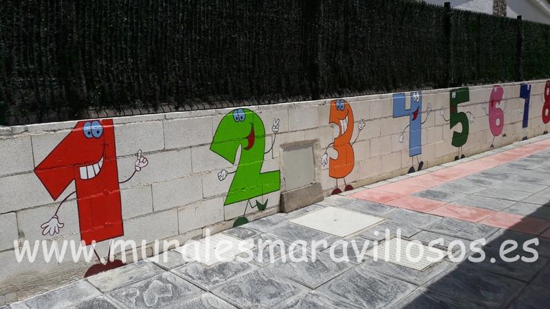 valla fachada escuela colegios numeros