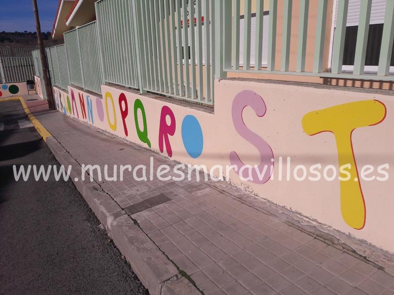 valla de colegio alfabeto ribatejada