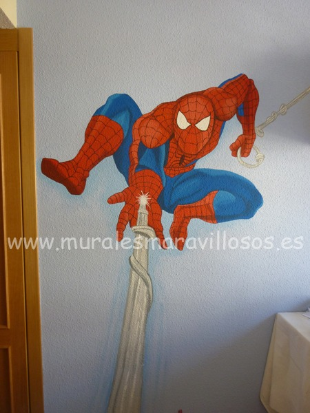 murales de superheroes spiderman