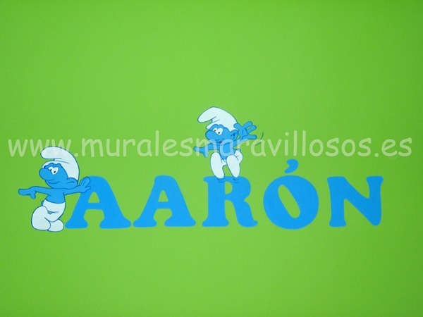 nombre aaron pintado pared