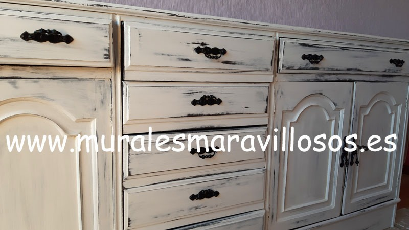 mueble cajones pintura tiza chalk paint