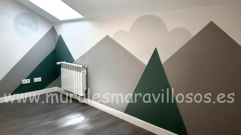 murales de montañas rayas zocalos