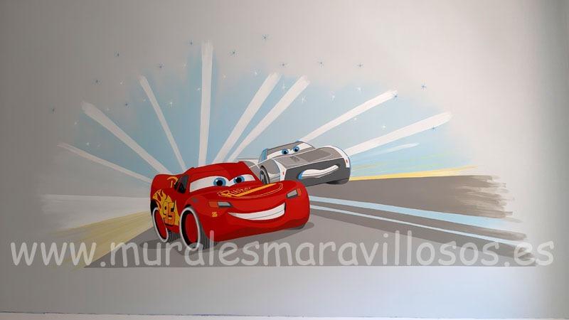 murales infantiles cars rayo mcqueen