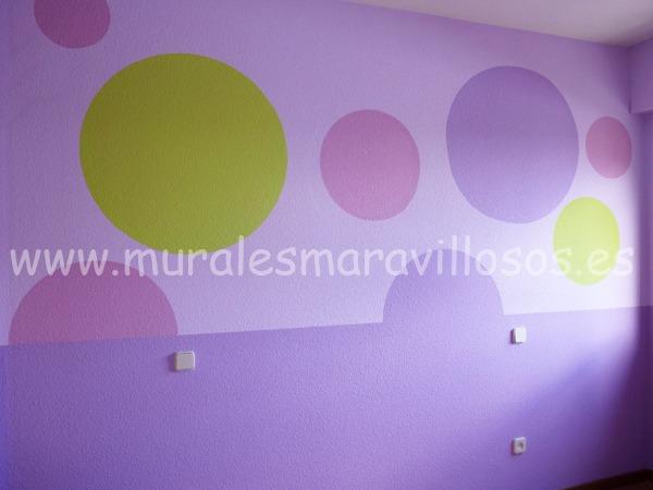 pintura original de habitaciones circulos